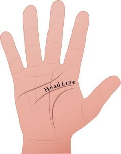 head line used in palm reading
